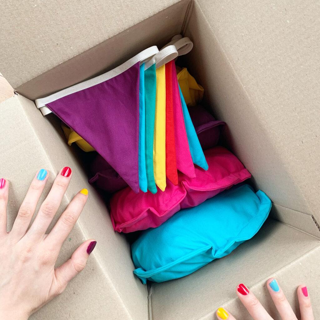 Dans chaque box, tout le nécessaire à l'organisation d'une fête réussie